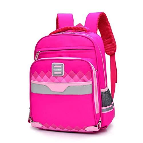 Love lamp Kinderrucksäcke Verschleißfeste Oxford-Tuch-Gewebe Großvolumige Rucksack Cram Schule Kinder Rucksack 11 × 14,96 × 15,9 Inches (Color : Pink)