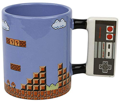 Super Mario Bros – XXL Taza de café 575 ml – Nivel 1 – Caja de regalo