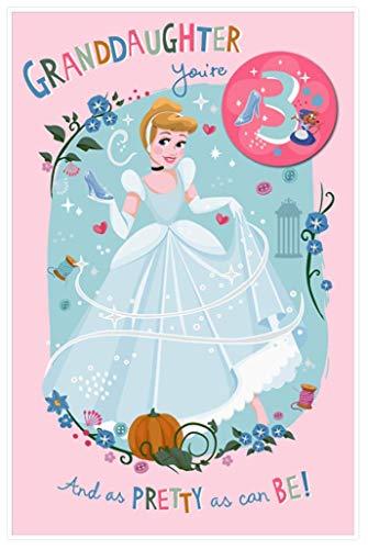 Britse groeten Disney prinses kleindochter 3Rd verjaardagskaart