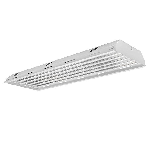 Four Bros Lighting HB6-T8/LED 6 Lamp/Bulb LED High Bay Light Fixture, 400W Equivalent, 5000K (Daylight), Indoor Shop Warehouse Industrial Commercial Grade DLC Premium and UL Listed LED Bulbs Included