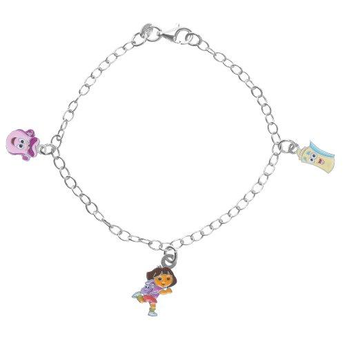 Dora, die Entdeckerin 3181063-Armband-Rucksack AFFE-Silber 925/1000 rhodiniert Emaille g 2.70 17 cm