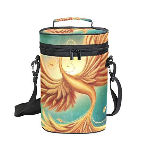 Montoj Weinkühltasche isoliert für Reisen Magic Firebird Phoenix Tragetasche Wein Tragetasche