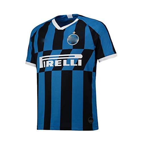 # 19-20 Inter Mailand Trikot zu Hause Nr. 9 Lukaku Team Uniform Fußballkleidung Sportheim Kurzarm Fußballkleidung, Neue Sportbekleidung Trainingskleidung atmungsaktiv und schnelltrocknend S-XXL-M