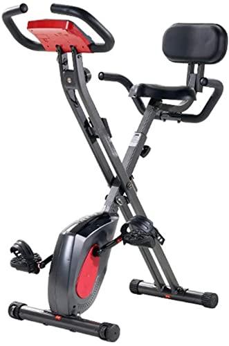 Flat Bike Manubrio per bicicletta stazionario e cyclette Comoda rotazione del sedile con monitor LCD per palestra domestica per allenamento a casa e? Cardio