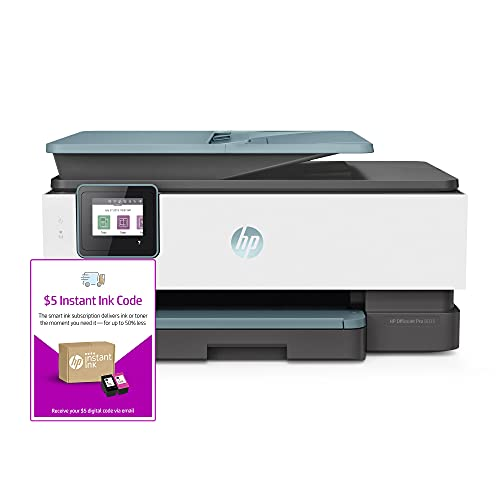 HP OfficeJet Pro 8035 All-in-One Wireless Printer (3UC66A) and Instant Ink $5 Prepaid Code
