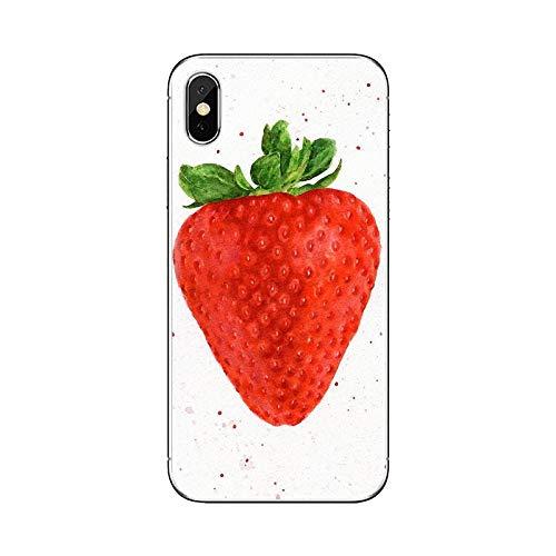 Collage de patrón de fruta de fresa para iPhone iPod Touch 11 12 Pro 4 4S 5 5S SE 5C 6 6S 7 8 X XR XS Plus Max 2020 Fundas blandas de la cubierta-imágenes 11-Para iPhone 7 Plus