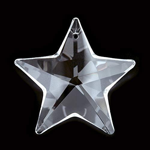 Unbekannt Stern klar Kristall 40mm Stein Perle Strass Kristallsteine Feng Shui Sonnenfänger Fenster Kristallstern