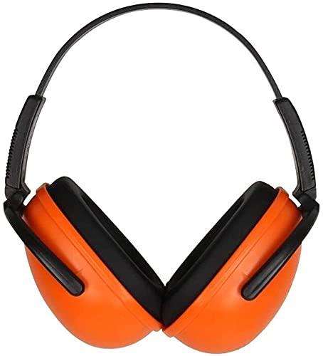 Tiro Anti-Ruido y Orejeras Protectoras industriales Anti-Ruido Cómodo (Color : Orange, Size : 23dB)