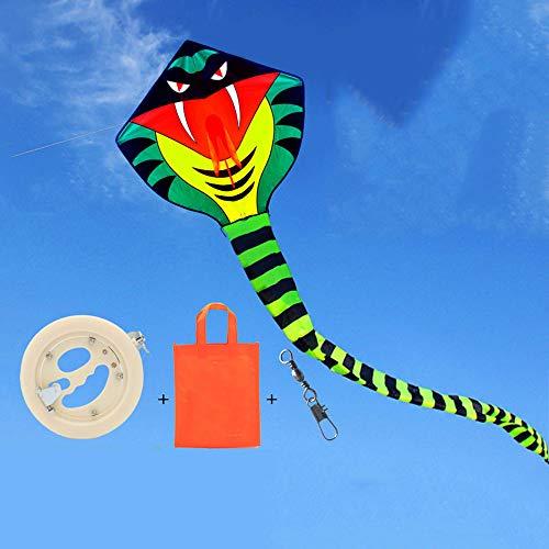 ZCFXGHH Jongen en meisjes, python draak, 15 m lang, enorme draak, voor kinderen en volwassenen, speelgoed in de openlucht, voor kinderen, 100 x 110 cm, kite + 200 m line