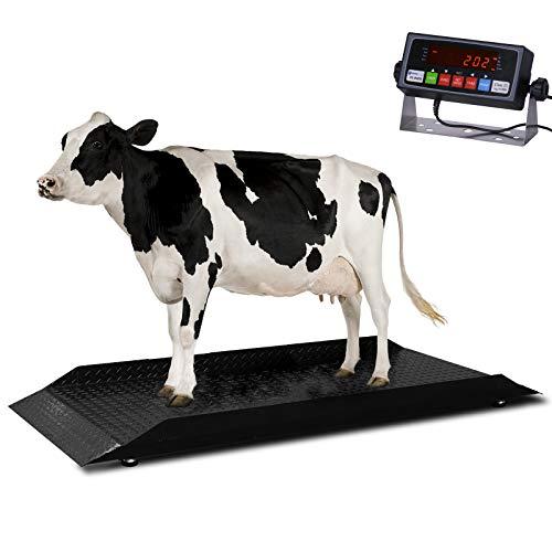 professional Milestone MS-4KCS Veterinary Scale 4000 x 0.5 lbs   Animal House   Large Cow Scale   Digital Animal…