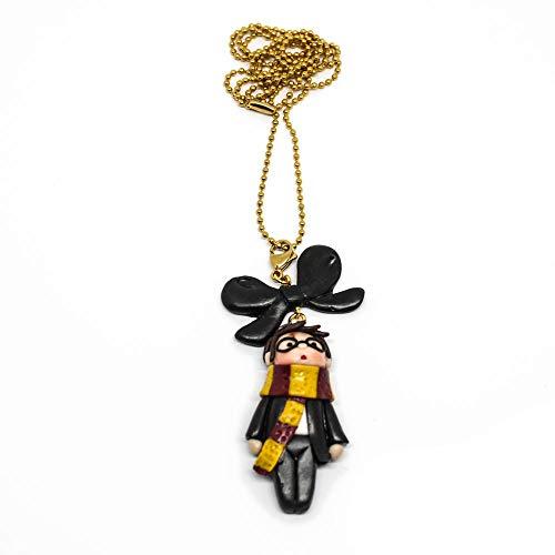 Collana lunga Harry Potter kawaii con catena oro