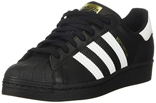 adidas Originals mens Superstar Sneaker, Core Black/White/Core Black, 9.5 US