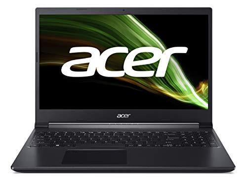 Acer Aspire 7 (A715-42G-R51X) Laptop 15.6 Zoll Windows 10 Home - FHD IPS Display, AMD Ryzen 5 5500U Mobile Prozessor, 8 GB DDR4 RAM, 512 GB M.2 PCIe SSD, NVIDIA GeForce GTX 1650 - 4 GB GDDR6