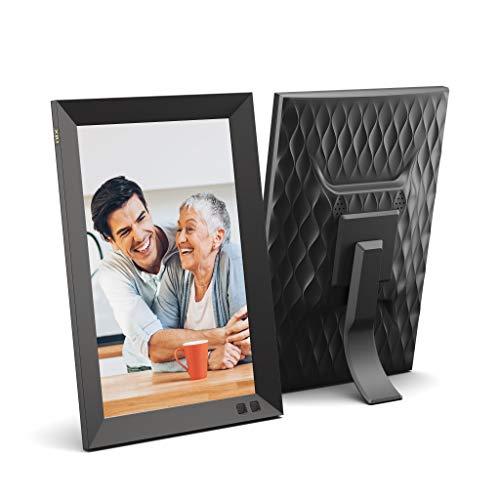 Cornice digitale USB NIX 10.1 pollici - Supporto per ritratti o paesaggi, risoluzione HD, auto-rotazione, telecomando magnetico - Mescolate le vostre foto e i vostri video nella stessa presentazione