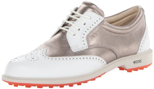 ECCO Damen Klassischer Hybrid-Golfschuh, Weiß/Mond Rock, 40/41 EU