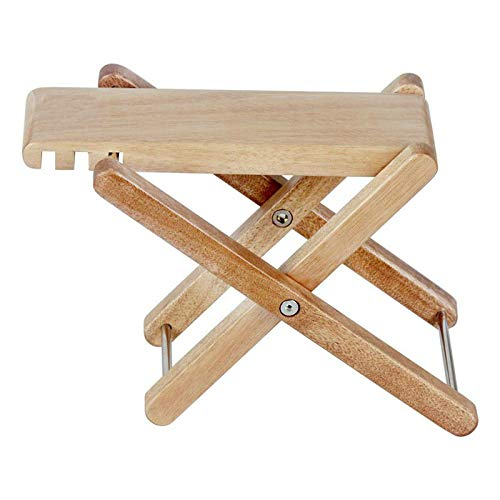 Folding Classical Guitar Foot Rest with 4 Heights, Rayzm Wood Guitar Footstool