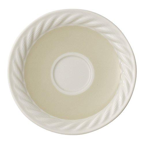 Villeroy & Boch Montauk Beachside Sous-tasse à moka/expresso Mokka/Expresso, 12 cm, Porcelaine Premium, Bleu/Beige/Blanc