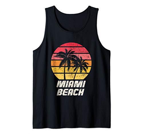 Vintage Miami Florida Gift Tropical Miami Beach Tank Top