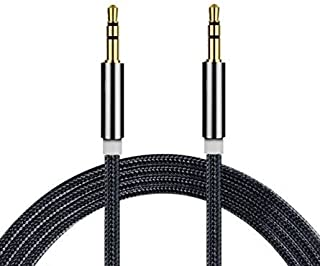 I-Sonite (Black) Gold Plated Nylon Material Braided 3.5mm Jack to Jack Connection Aux Auxiliary Audio Cable [ 1 Meter ] fo...
