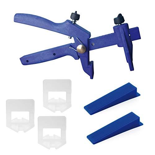 Lantelme Fliesen Nivelliersystem Basis Set 2 mm Fuge 3-15 mm Fliese Verlegehilfe Verlegesystem Fliesenverlegung Fliesenverlegehilfe 6016