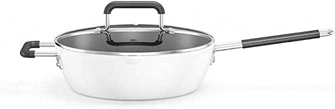 Special/Simple Stainless Steel Wok, Multipurpose Sauce Pan, Sauce Pot,Non Stick Pot No Smoke Gas Stove Induction Cooker Wo...