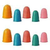 Dedales de Goma Almohadilla,10 PCS Gruesa Dedales de Silicona Reutilizables Protector de Dedos Protector Dedos Mano para Clasificación Escritura Pegamento Juegos Deportivos Calientes