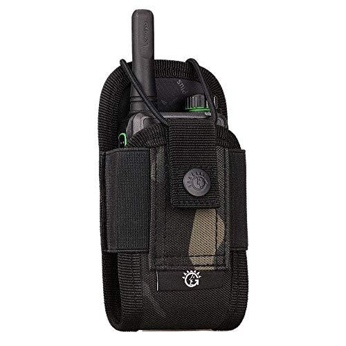 BAIGIO Walkie Talkie Funda Bolsa Militar Multi-Función Bolsa Carcasa Funda Case de Nylon para Walkie-Talkie Radio,Dispositivos Electronicos Portatiles y GPS, etc. Bolsa del Teléfono (Camo)