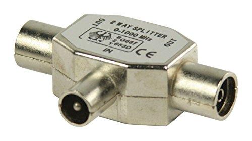 Eurosell Distribuidor coaxial con conector F/amplificador DVBT DVBT2DVBC, accesorios para televisión