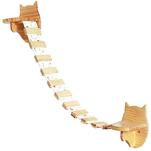Da JIa Inc Katzen Wandpark, handgefertigte Katzentreppe Tiermöbel Katzenmöbel in vielen Ausführungen Katzenbaum für die Wand - 2 kleine Schritte + 31,5