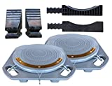 Zackman Scientific Wheel Alignment Tool Turn Plates, Turnable with 4 Ton Capacity, Free Transition Bridges & Thrust Blocks Inclusive (Pair)