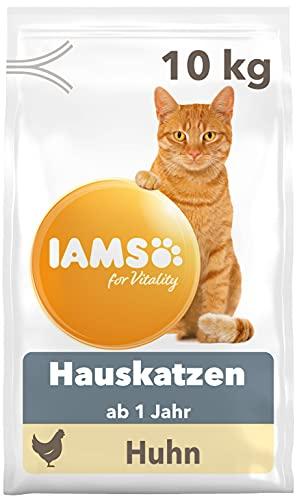 IAMS for Vitality Indoor Katzenfutter trocken - Trockenfutter für Hauskatzen ab 1 Jahr, 10 kg