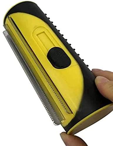 3-in-1 Unterfell- und Enthaarungsbürste Pinsel, Einfache Handhabung,Pinsel, Hundehaar, Haarentferner, Haarkämme und Haarkämme, Gelb