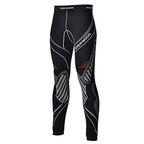 Sherwood Sher-Wood Comfort Compression de Lingerie sous-vêtement Pantalon d'entraînement M Noir/Rouge