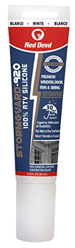Red Devil 0785 StormGuard RTV Silicone Sealant, 1-Pack, White