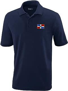 Custom Polo Performance Shirt Dominican Republic Embroidery Design Golf Shirt