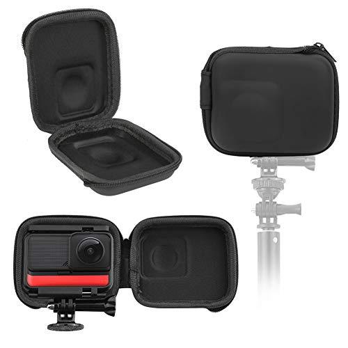 Bolsa de almacenamiento para cámara deportiva, caja de protección portátil, para Insta360 ONE R Panorámica, material de PU impermeable, diseño compacto y liviano, para fotografía al aire libre, turism
