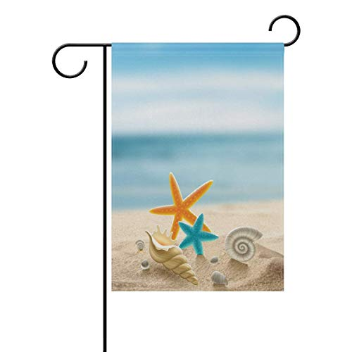 Cartel de jardín BIT Starfish con texto 'Little Citi', decoración de patio de doble cara, 4 temporadas, 12,5 x 45,7 cm