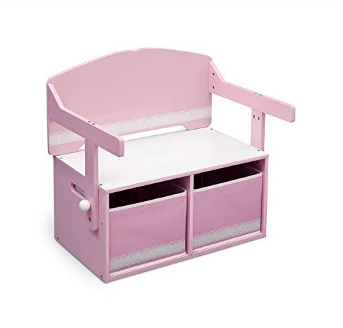 Delta Children 3 En 1 - Banco de almacenamiento y escritorio, color...