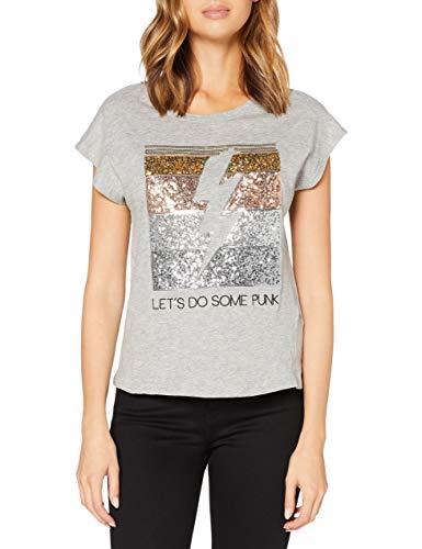 Springfield Camiseta Let´s Do Some Punk T-Shirt, Gris, XL Womens