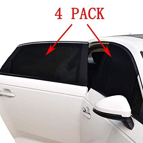95/% of Cars 2 Pack Breathable Mesh Car Rear Side Window Shade Sunshade UV Protection for Baby Family Pet Universal Car Window Sun Shade Cover Full Windows Car Mosquito Net Curtains Fit for Most