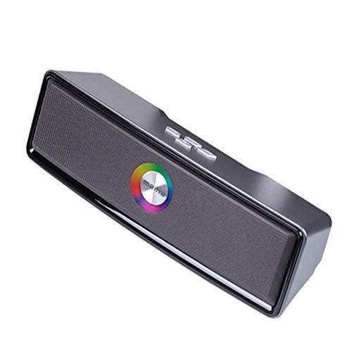 MESST Altavoz Bluetooth con Colorido Parpadeante Radio Bluetooth Estéreo, subwoofer Dual-Channel, Soporte para la conexión del teléfono móvil Bluetooth, Tablet