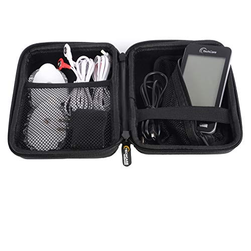 Hard Travel Case for TechCare Plus 24 Touch X Tens Unit Touch Massager Protective Shockproof Dustproof Water Resistant Light Weight Carrying Case