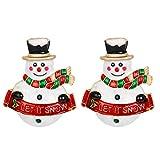 Holibanna 2 Unids Navidad Muñeco de Nieve Broche Esmalte Broche de Navidad Pines para Mujeres Hombre...