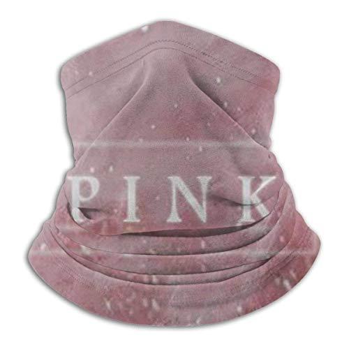 ShiHaiYunBai Tour de Cou Cagoule Microfibre Chapeaux Tube Masque Visage, Pink Feather Fleece Neck Warmer - Reversible Neck Gaiter Tube, Versatility Ear Warmer Headband & For Men And Women