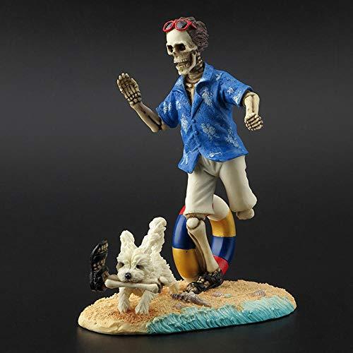 YHNBG Escultura Decorativa Esculturas Estatuas Adornos Estatuilla Figuras Coleccionables Esqueleto Misterioso Personas Perro Amor Hueso Regalo De Cumpleaños Decoración Artesanal