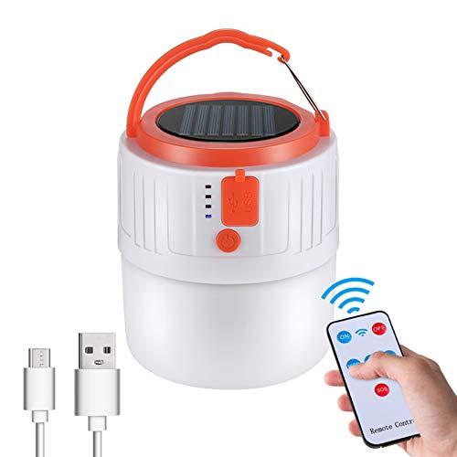 LED Camping Lantern Linterna de Cámping Power Bank cargador LED USB Recargable 6000 mAh Lámpara de Camping Proyección tienda portátil Luz de Emergencia para Pesca, Montaña, Excursión, Jardín, Patio