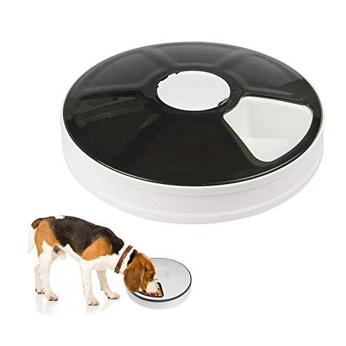 Comedero automático para Gatos con Temporizador, 6 Comidas Dispensador de Comida para Perros para Gatos pequeños, Grabadora de Voz Alimentador automático temporizado para Mascotas programable