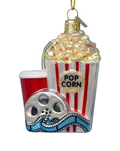 Kurt Adler Noble Gems Popcorn and Movie Ornament
