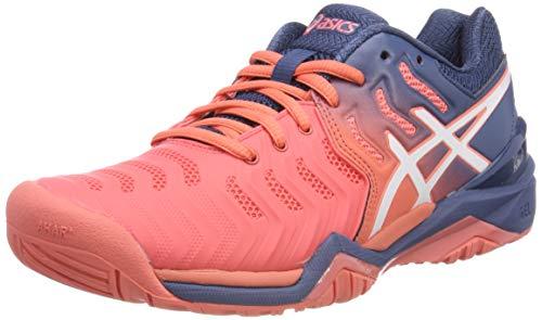 Asics Gel-Resolution 7, Zapatillas de Tenis para Mujer, Rojo...