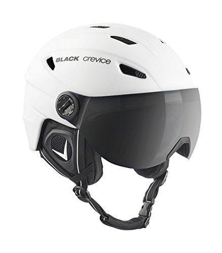 Black Crevice Erwachsene Skihelm Silvretta, matt weiß/schwarz, L = 59/60 cm